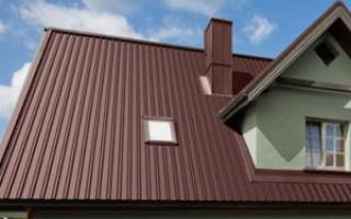 Профнастил для кровли — современный материал для крыши, размеры