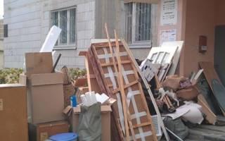 Правила сбора и вывоза крупногабаритного мусора