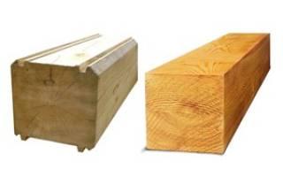 Брус деревянный, стандартные размеры и другие характеристики материала используемого для строительства домов