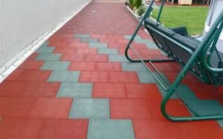 Резиновая плитка для дачи из переработанных отходов